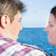Young woman and young man on a marina — Stock Photo #63399365