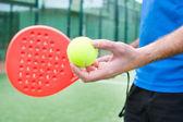 Gioco tennis paddle uomo — Foto Stock