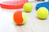 Paddle tennis rackets — Stock Photo