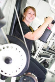 Woman in the gym — Stock Photo
