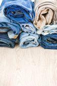 Denim clothes — Stock Photo