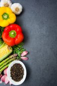 Vegetables on slate table — Stock Photo