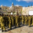 Постер, плакат: Combat units in the Israeli army were sworn near the wailing wal