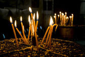Candles in the Church of the Nativity Bethlehem — Foto Stock