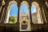 View of the Church of the Nativity Bethlehem — Stock Photo