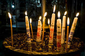 Candles in the Church of the Nativity Bethlehem — Stock fotografie