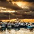 Fishing boats at the port of Hurghada, Hurghada Marina at sunset — Stock Photo #58533111