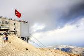 Turkey mountain peak Tahtali. Kemer. in overcast weather — Stock Photo