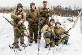 Russia St. Petersburg. January 25, 2015.Group photo of Soldiers  — Stock Photo