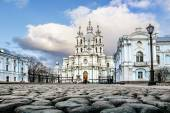 March 22, 2015. Russia St. Petersburg, Smolny Cathedral  — Stock Photo