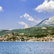City Herceg  Novi in Kotor bay, view from the sea — Stock Photo #77949116