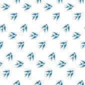 Swallows in the  pattern — Stock Vector
