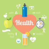 Healthy lifestyle  info graphic — Stockvektor