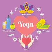Yoga concept set. — Stock Vector