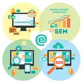 Internet marketing Set — Stock Vector