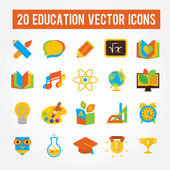 Set of 20 education icons — Stock Vector