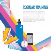 Jogging sport gym background — Stock Vector