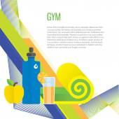 Sport gym background — Stock Vector