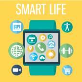 Digital smart watch — Stockvector