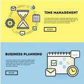 Time management and business planning banners — Stock Vector