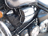 Glanzend chroom vergulde motorfiets motor — Stockfoto