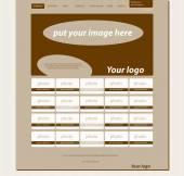 为商业或非牟利组织响应 web 布局模板 — 图库矢量图片