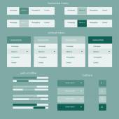 Responsive elements for web site — Stock Vector