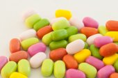 Candy or pill background — Stock Photo
