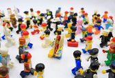 Lego minifigure in different post — Stock Photo