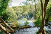 Queda da cascata bonita — Foto Stock