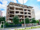 Ruins of Mostar town — Stock Photo