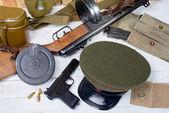 Equipment of the Soviet soldier during World War II — Stock Photo