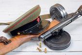 Apparecchiatura del soldato sovietico durante la seconda guerra mondiale — Foto Stock