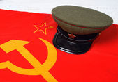 Cap on the flag of the Soviet Union — Stock Photo