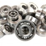 Lot of small ball bearings — Stock Photo #58875295
