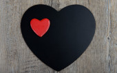 Black and red hearts for Valentine's Day — Stock Photo