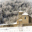 Winter landscape with a church — Stock Photo #63357535
