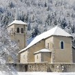 Winter landscape with a church — Stock Photo #63358449