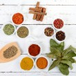 Assortment of Indian spices — Stock Photo #66261557
