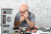 Opravu počítače technika — Stock fotografie