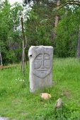 The statue of the Okunev culture — Stock Photo