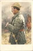 Civil war hero Kikvidze — Stock Photo