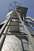 Personal perspective to the Safety metal ladder — Stock Photo
