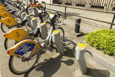 Brussels, Belgium  August 23: Villo! automatic bicycle hire s — Stock Photo