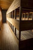 Replica triple bunks. Dachau Concentration Camp. — Stock Photo