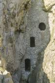Culver Hole, medieval dovecote in a cave, Gower Peninsula. — 图库照片