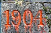 Nineteen o four 1904 old year stone — Stock Photo