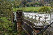 Elan aqueduct as it crosses the river Severn. — Stock Photo
