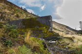 Nant-y-Gro Dam, blown up during war for testing of dambusters bo — Stock Photo