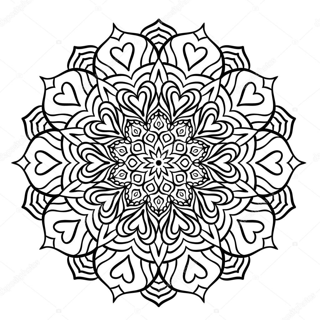 Zwarte Mandala met har...